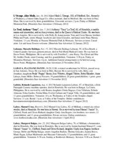 L'Orange ,Alice Maile, Jan. 19, 2012 Alice Maile L'Orange, 103, of Medford, Ore., formerly of ...