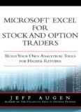 Augen Jeffrey, Microsoft Excel for stock and option traders: build your own analytical tools