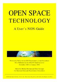 Open Space Technology: A User's NON-Guide - Chris Corrigan
