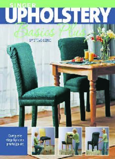 Singer Upholstery Basics Plus  Complete Step-by-Step Photo Guide