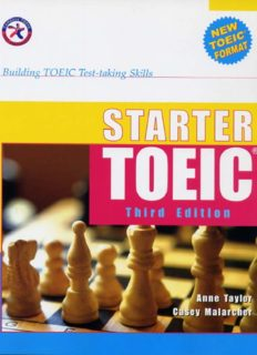 Starter TOEIC, Third Edition (w 3 Audio CDs), Building TOEIC Test-taking Skills