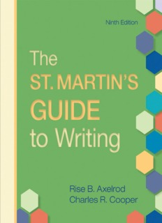 Ninth Edition The St. Martin's Guide to Writing
