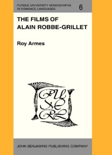 The Films of Alain Robbe-Grillet
