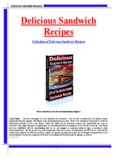 Delicious Sandwich Recipes Delicious Sandwich Recipes