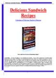Delicious Sandwich Recipes Delicious Sandwich Recipes
