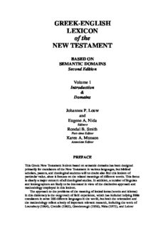 Greek-English Lexicon of the New Testament: Based on Semantic Domains