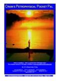 petrophysical pocket pal 2002 - Crain's Petrophysical Handbook
