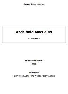 Archibald MacLeish - poems - - PoemHunter.Com