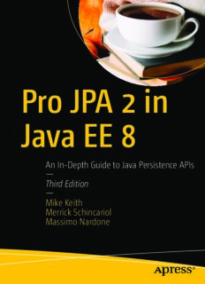 Pro JPA 2 in Java EE 8: An In-Depth Guide to Java Persistence APIs