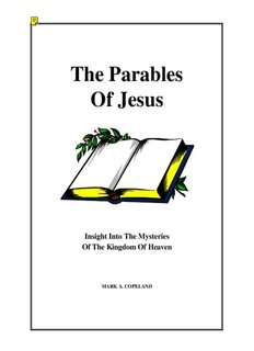 The Parables Of Jesus - Bible Study Guide