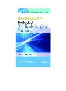 Handbook for Brunner and Suddarth's Textbook of Medical-Surgical Nursing