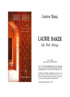 Laurie Baker- Life, Works and Writings