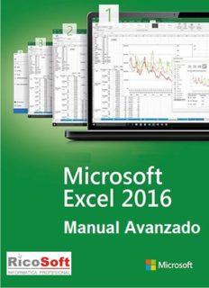 Microsoft Excel 2016 Manual Avanzado