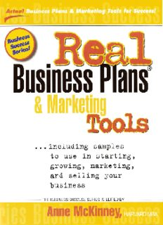 Real Business Plans & Marketing Tools: Samples to Use in Starting, Growing and Selling Your Business (Business Success Series (Prep Publishing).)