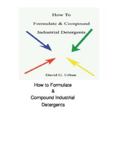 How to Formulate & Compound Industrial Detergents