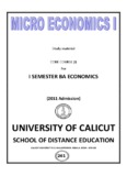 Micro Economics - University of Calicut