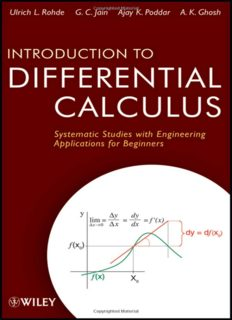 Introduction to differential calculus : systematic studies with engineering applications for beginners