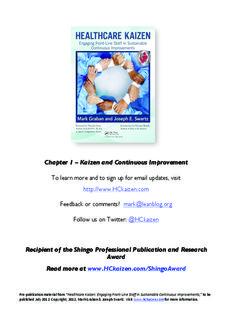 Kaizen = Continuous Improvement - Healthcare Kaizen