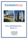 title iii operating manual - H. Councill Trenholm State Technical