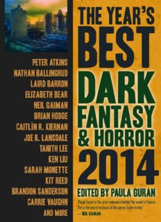 The Year's Best Dark Fantasy and Horror 2014