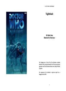DOCTOR WHO: NIGHTSHADE - Icshi.net