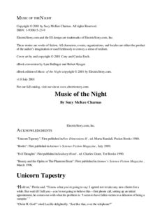 Suzy McKee Charnas - Music of the Night