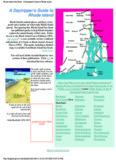 A Daytripper's Guide to Rhode Island