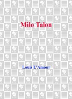 Milo Talon: Talon and Chantry Series, Book 6