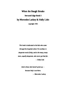 Lackey, Mercedes - Serrated Edge 03 - When the Bough Breaks