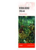 Burma Road, 1943–1944: Stilwell's Assault on Myitkyina