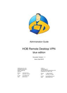 HOB RD VPN blue edition Administration Guide - HOB GmbH & Co.KG