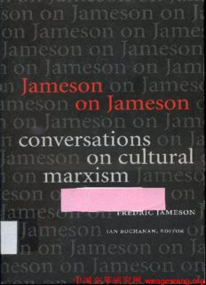 Jameson on Jameson: Conversations on Cultural Marxism