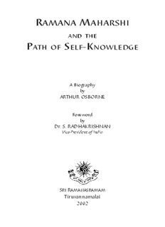 Ramana Maharshi and the Path of Self-Knowledge - Realization