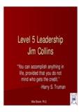 Level 5 Leadership Jim Collins