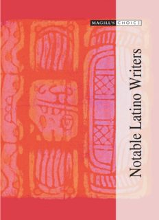 Magill's Choice: Notable Latino Writers, 3 Volume Set (Magill's Choice)
