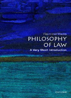 The Philosophy of Law: A Very Short Introduction (Very Short Introductions)