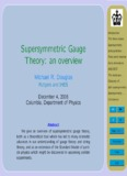 Introduction Supersymmetric Gauge Supersymmetry Seiberg-Witten
