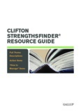 clifton strengthsfinder® resource guide