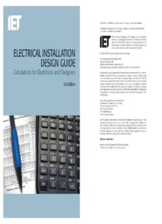 Electrical Installation Design Guide_ Calculations for Electricians and Designers, 2nd Edition