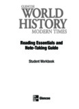 Glencoe World History Modern Times Reading Essentials & Note Taking Guide SE © 2010