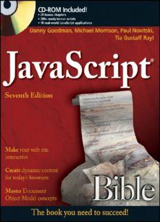 JavaScript Bible, 7th ed. - [Goodman, Morrison].