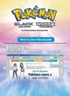 Pokemon Black & White Prima Official Guide (Volume 1)