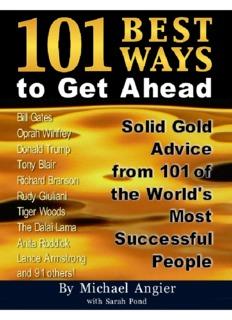 101 Best Ways to Get Ahead - As A Man Thinketh