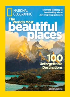 National Geographic. The World's Most Beautiful Places: 100 Unforgettable Destinations