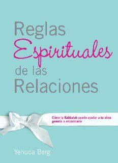 Reglas Espirituales de las Relaciones: Como la Kabbalah