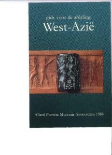Phoenix 34,1: Gids voor de afdeling West-Azië. Allard Pierson Museum Amsterdam