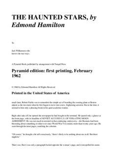 Edmond Hamilton - The Haunted Stars