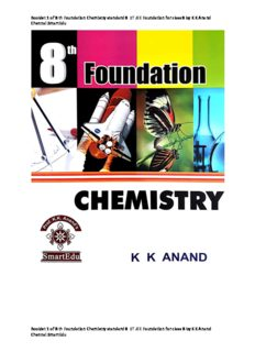 Booklet 1 of 8 th Foundation Chemistry standard 8  IIT JEE Foundation for class 8