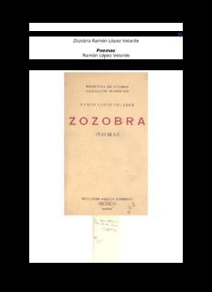 Zozobra Ramón López Velarde