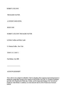 ROBERT LUDLUM'S THE HADES FACTOR A COVERT-ONE NOVEL BOOK ONE ROBERT ...